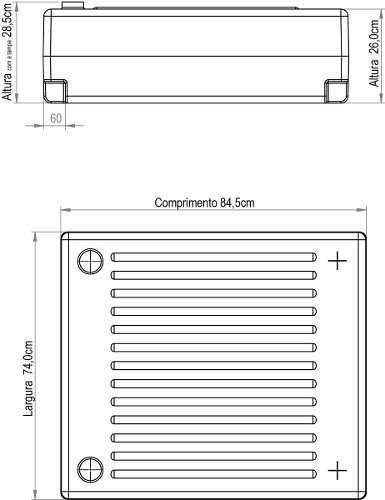 Tanque Retangular 150 Litros  - WebPlástico