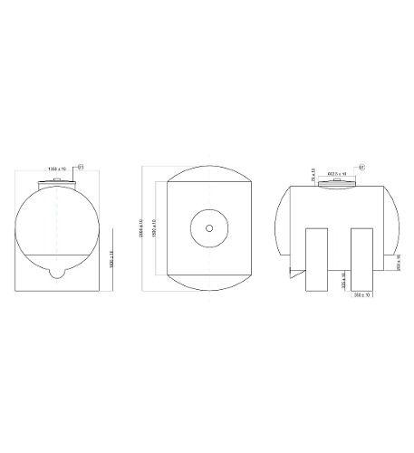 Tanque De 3000 Litros horizontal  - WebPlástico