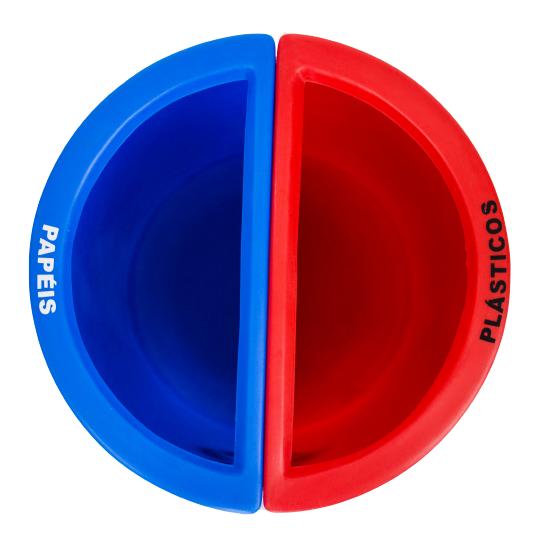 Lixeira Mix 25 Litros 2 divisórias - ROTOMOLDADO  - WebPlástico