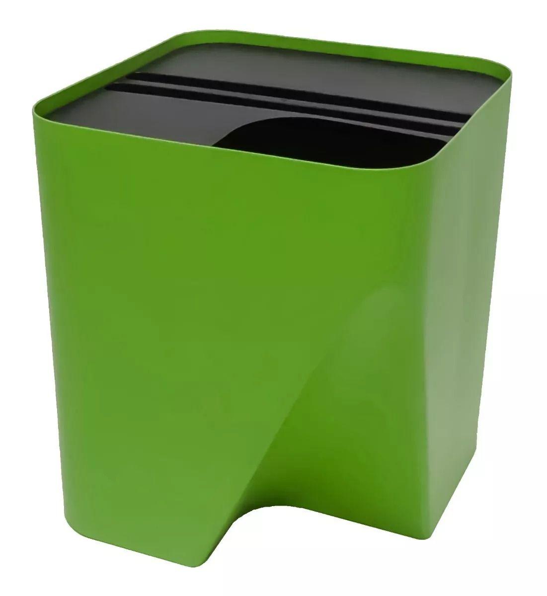Lixeira Reciclagem Coleta Seletiva Empilhável 25 litros  - WebPlástico