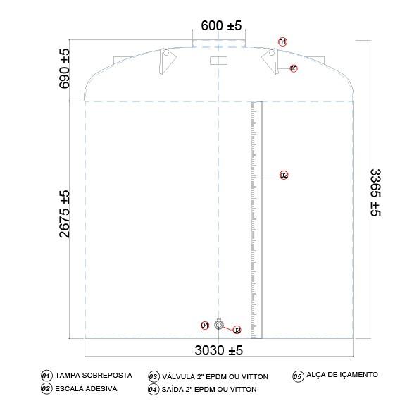 Tanque de 20000 litros vertical  - WebPlástico