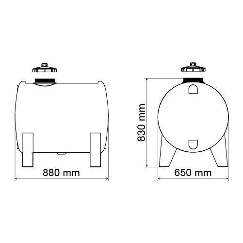 Tanque De 250 Litros Para Gerador Completo Com Mangueira  - WebPlástico