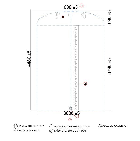 Tanque de 30000 litros vertical  - WebPlástico