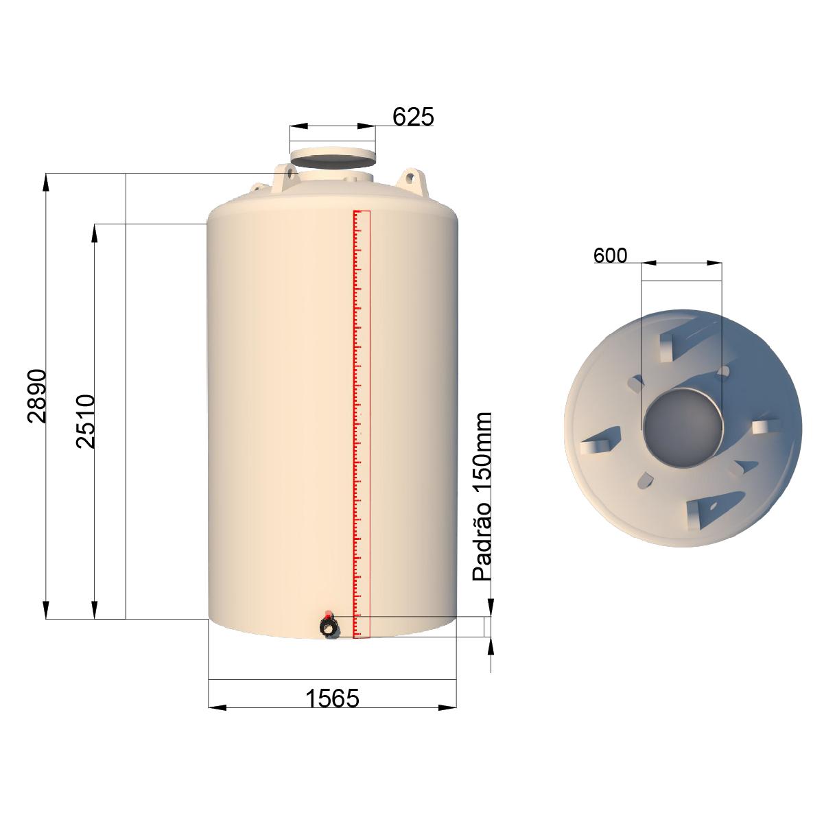 TANQUE DE 5000 litros VERTICAL  - WebPlástico
