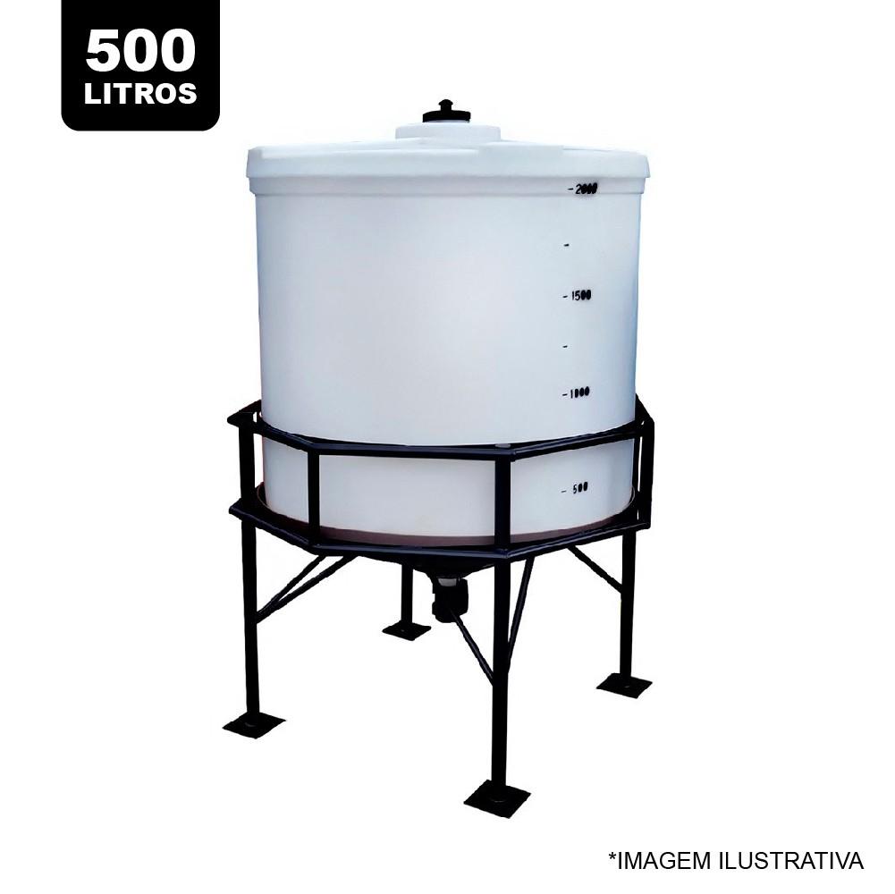 Tanque Fundo Cônico Com Estrutura 500 Litros