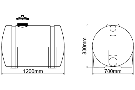 TANQUE HORIZONTAL DE 500 LITROS  - WebPlástico