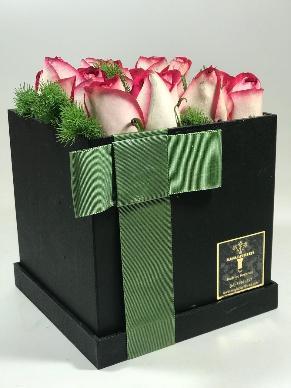 Rosas na caixa