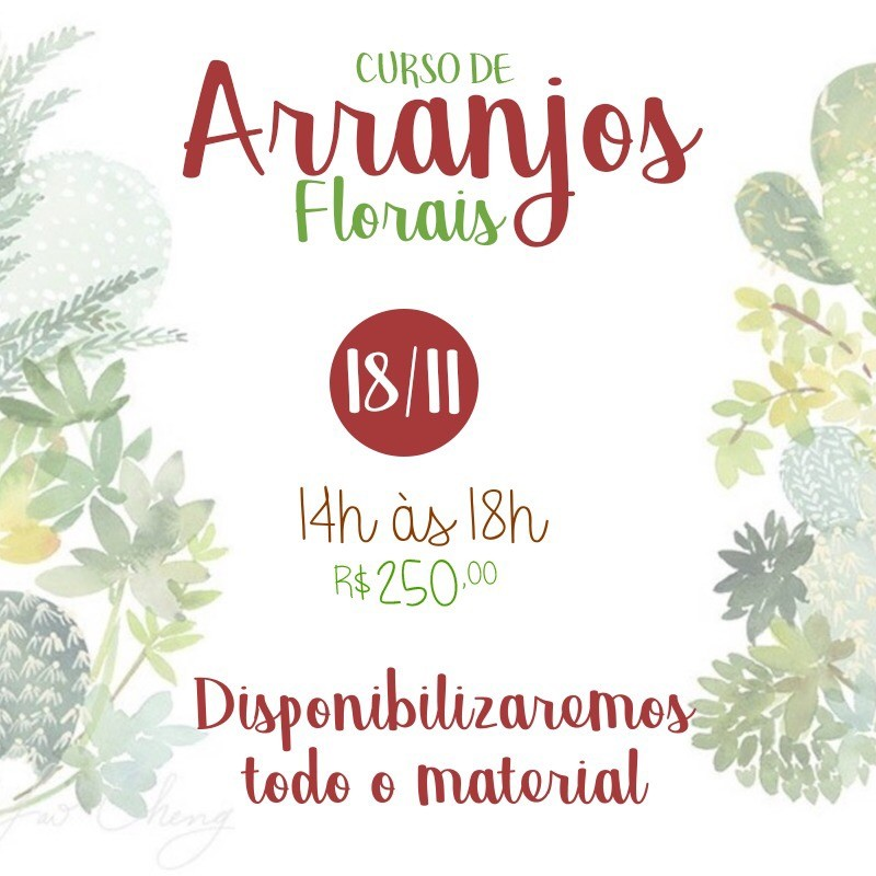 Curso de arranjos florais 18/11/2017