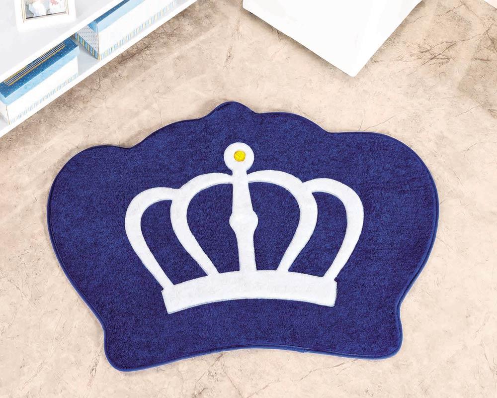 Tapete Infantil Coroa Azul Royal Menino