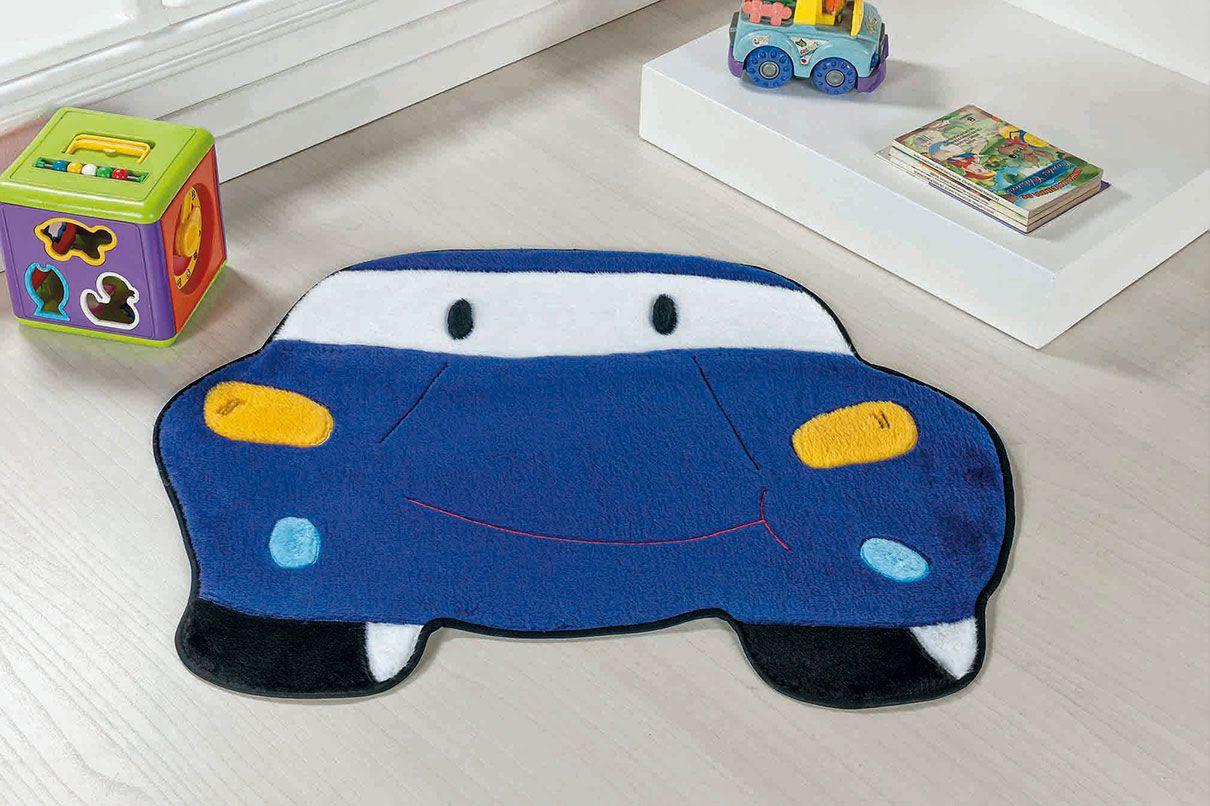 Tapete Infantil Carro Azul