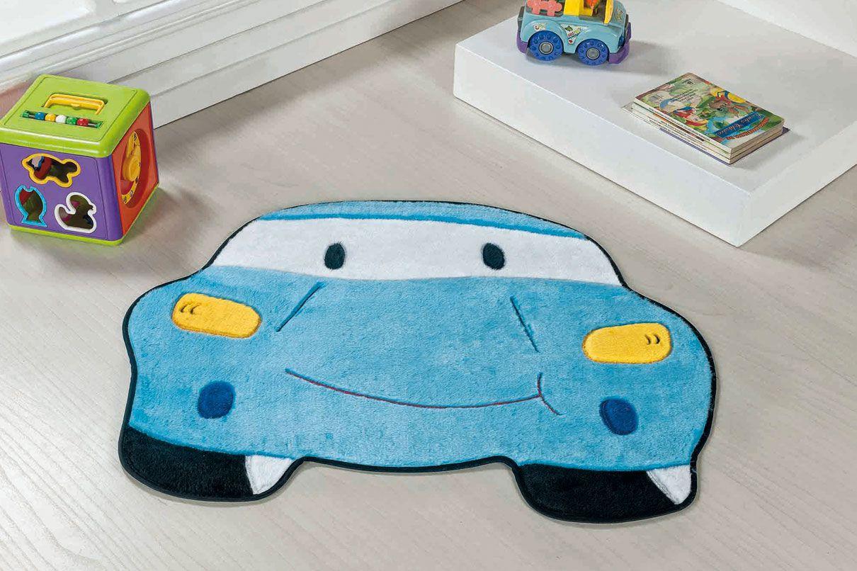 Tapete Infantil Carro Azul Claro
