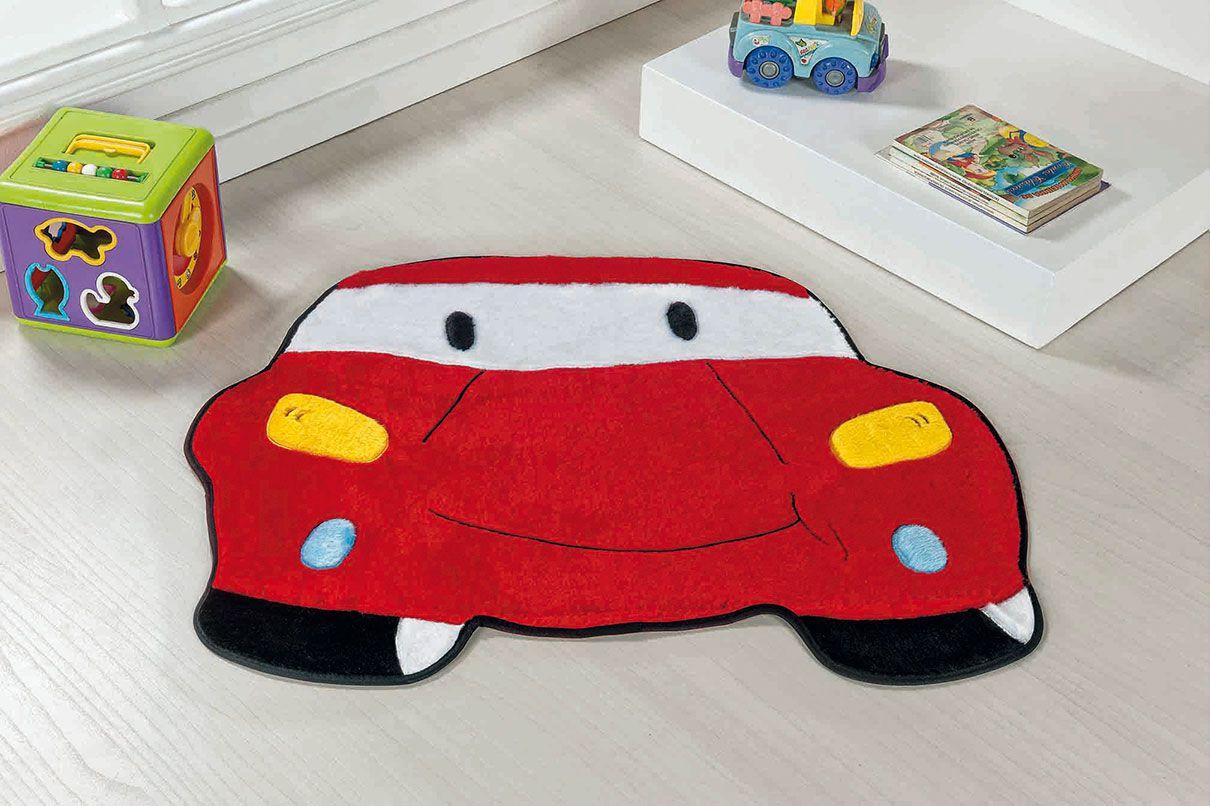 Tapete Infantil Carro Vermelho