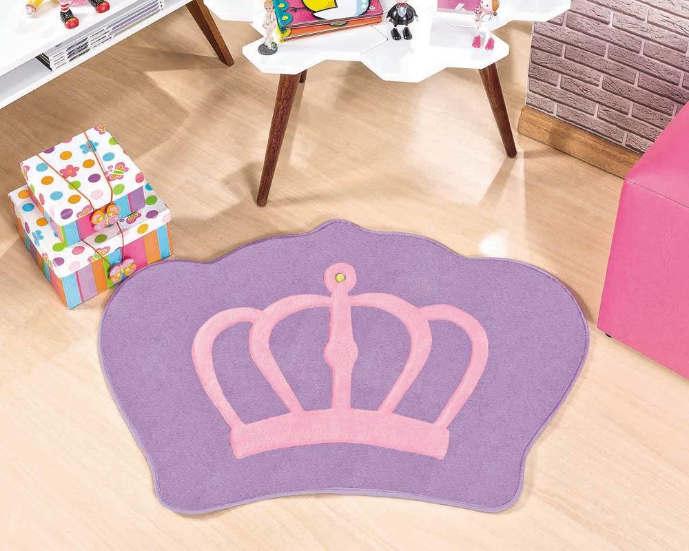 Tapete Infantil Formato Coroa Lilás