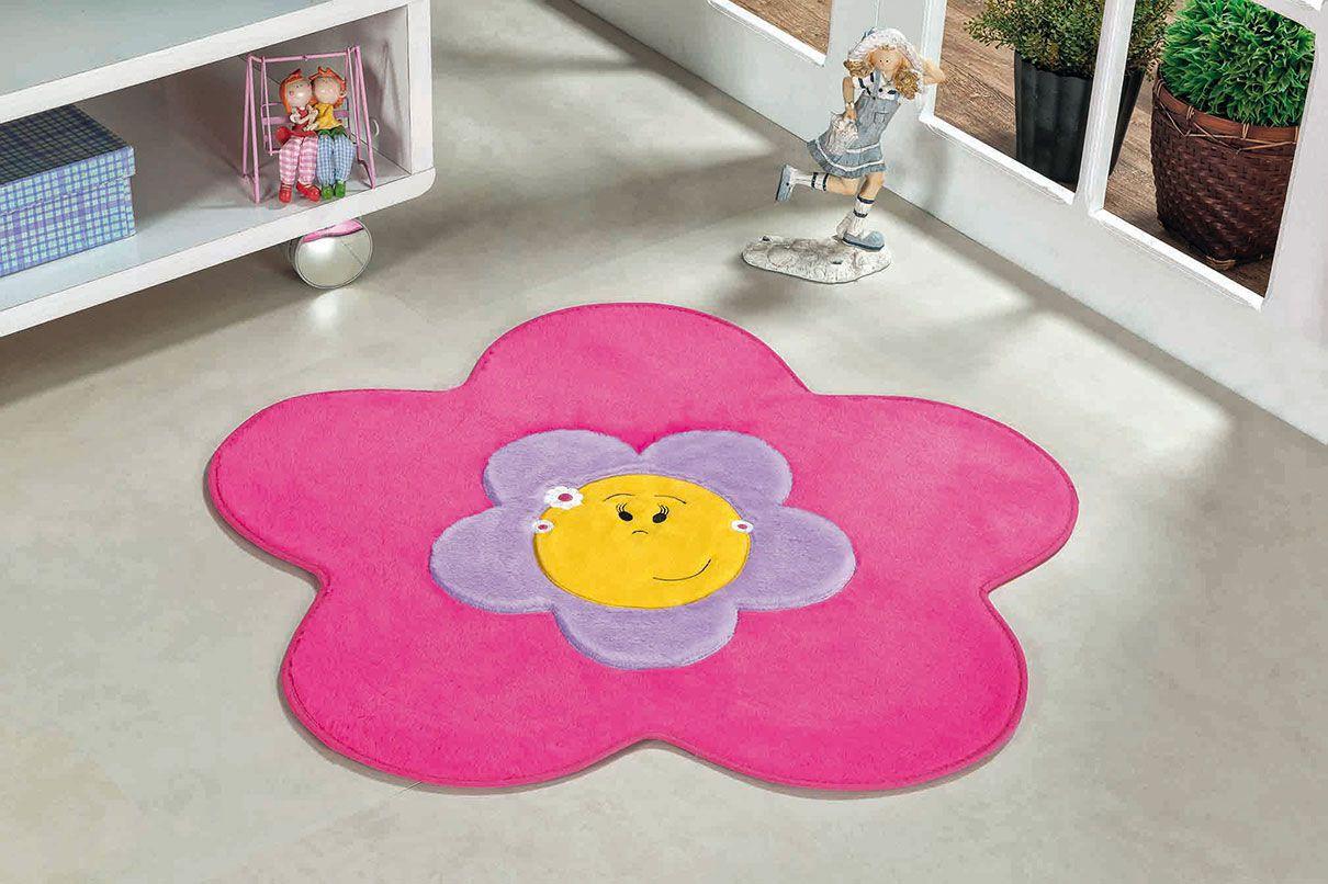 Tapete Infantil Menina Flor Pink