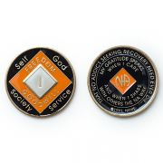 Medalhão triplate Orange/Black/Pearl EN-6900