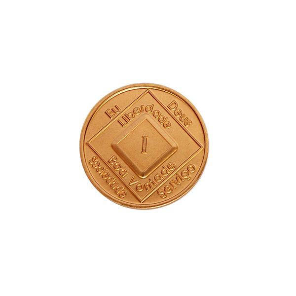 Medalhão de bronze em português PB-4300