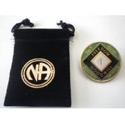 Medalhão triplate Green/Pearl/Black EN-6100