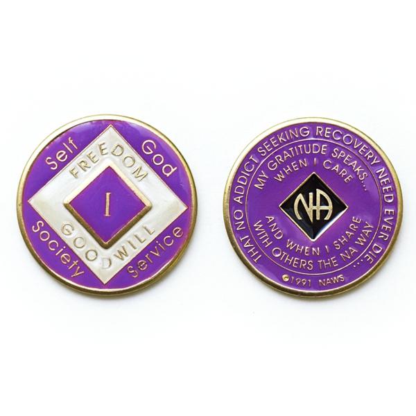 Medalhão triplate Violet/Pearl/Black EN-6800