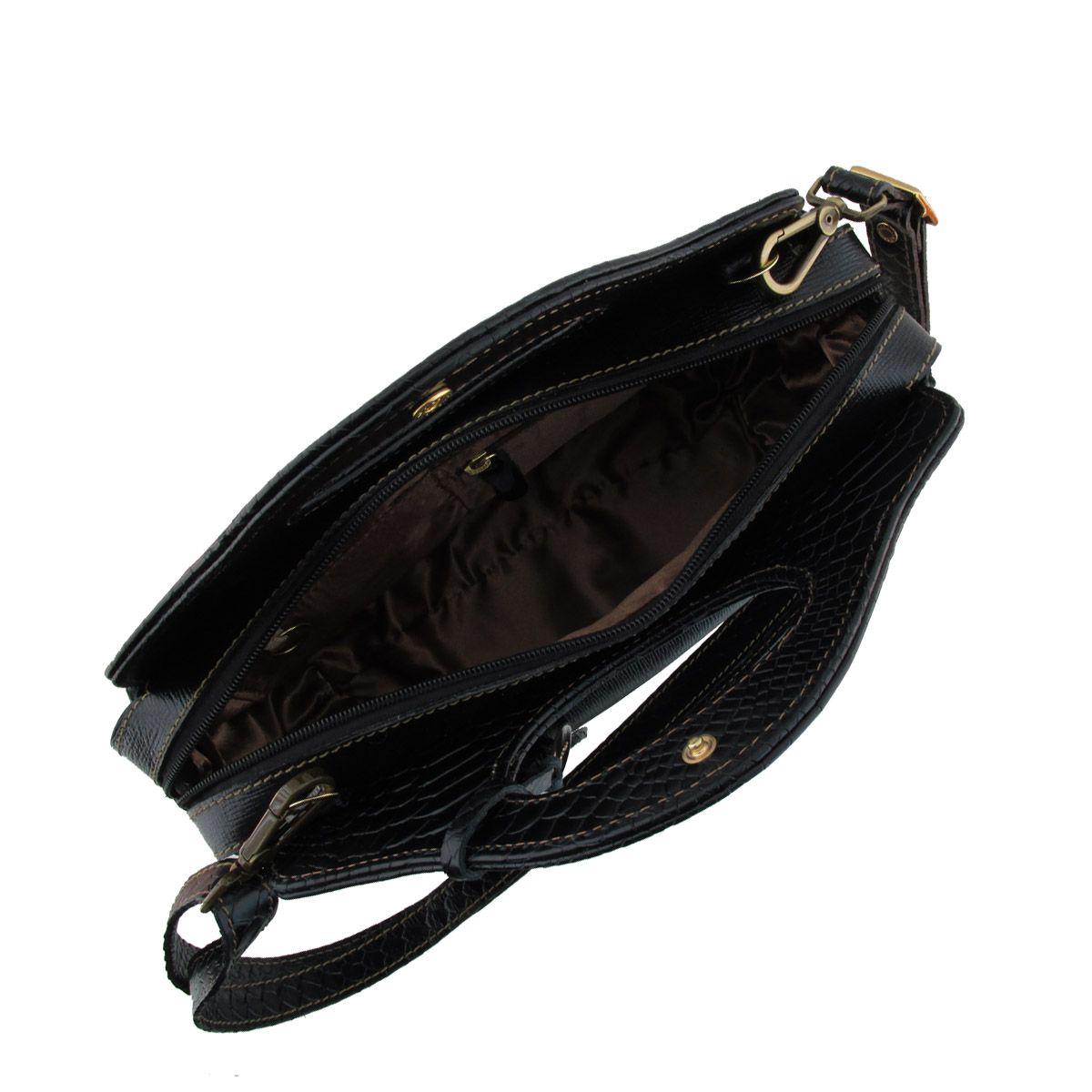 Bolsa De Mao Com Pedraria : Bolsa couro de m?o black