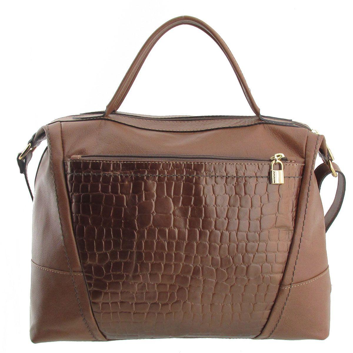 Bolsa De Mão Santino : Bolsa de m?o em couro bronze