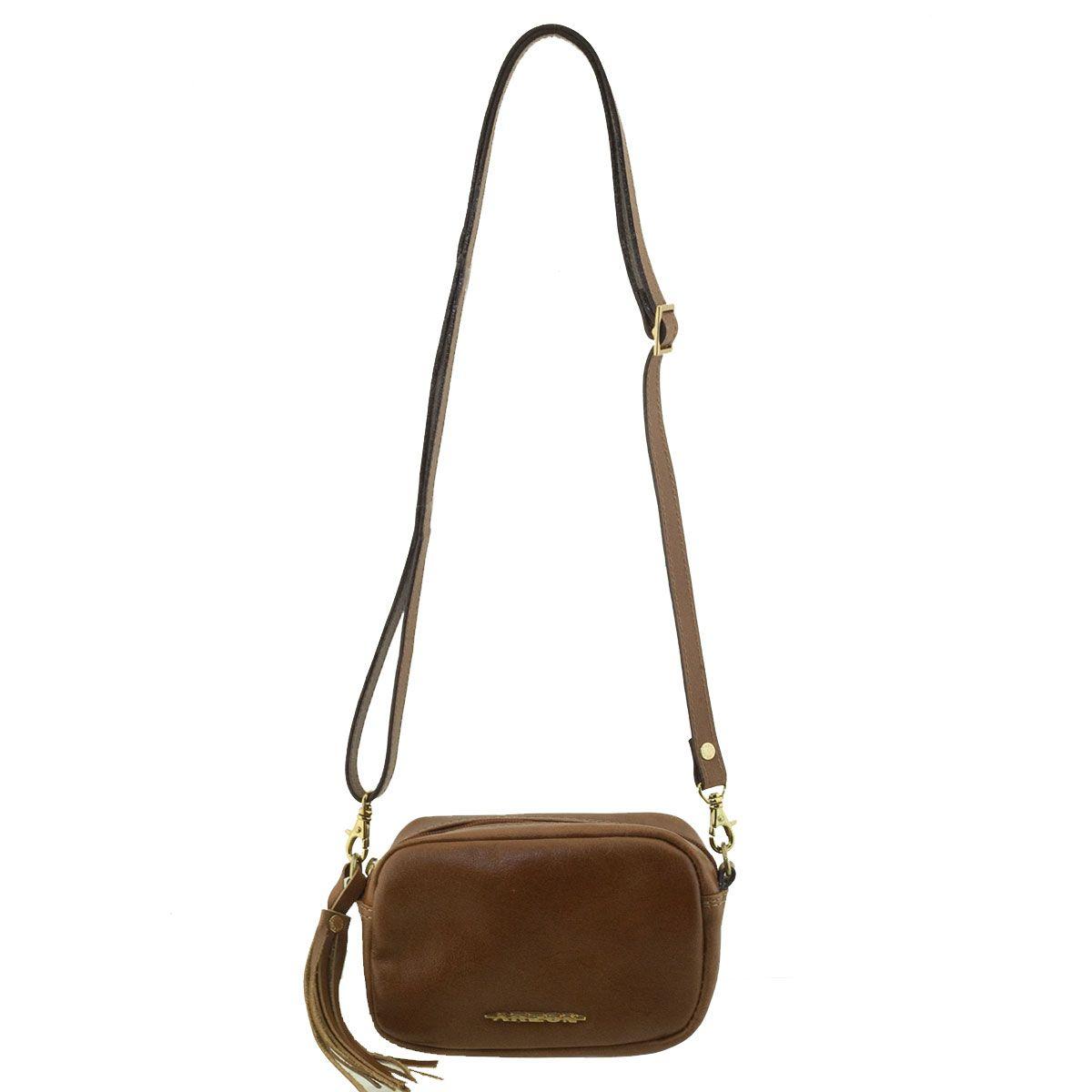Bolsa De Couro Richards : Bolsa em couro tiracolo chocolate