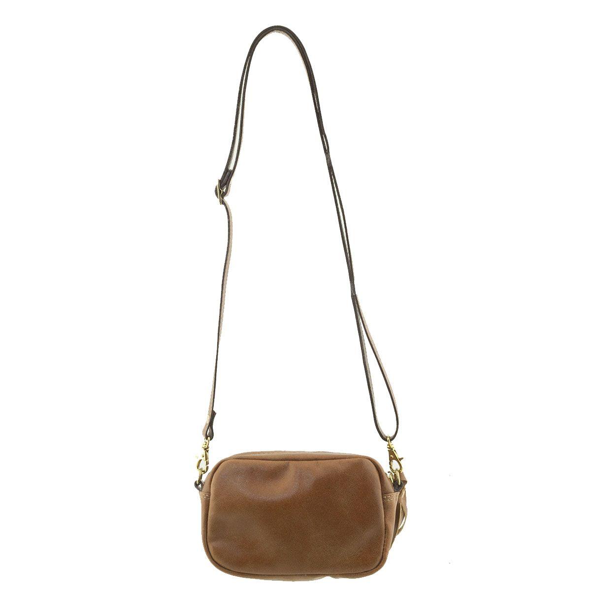 Bolsa De Couro Wow : Bolsa em couro tiracolo chocolate