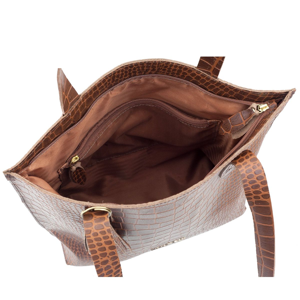 Bolsa Sacola de Couro Inverno Chocolate