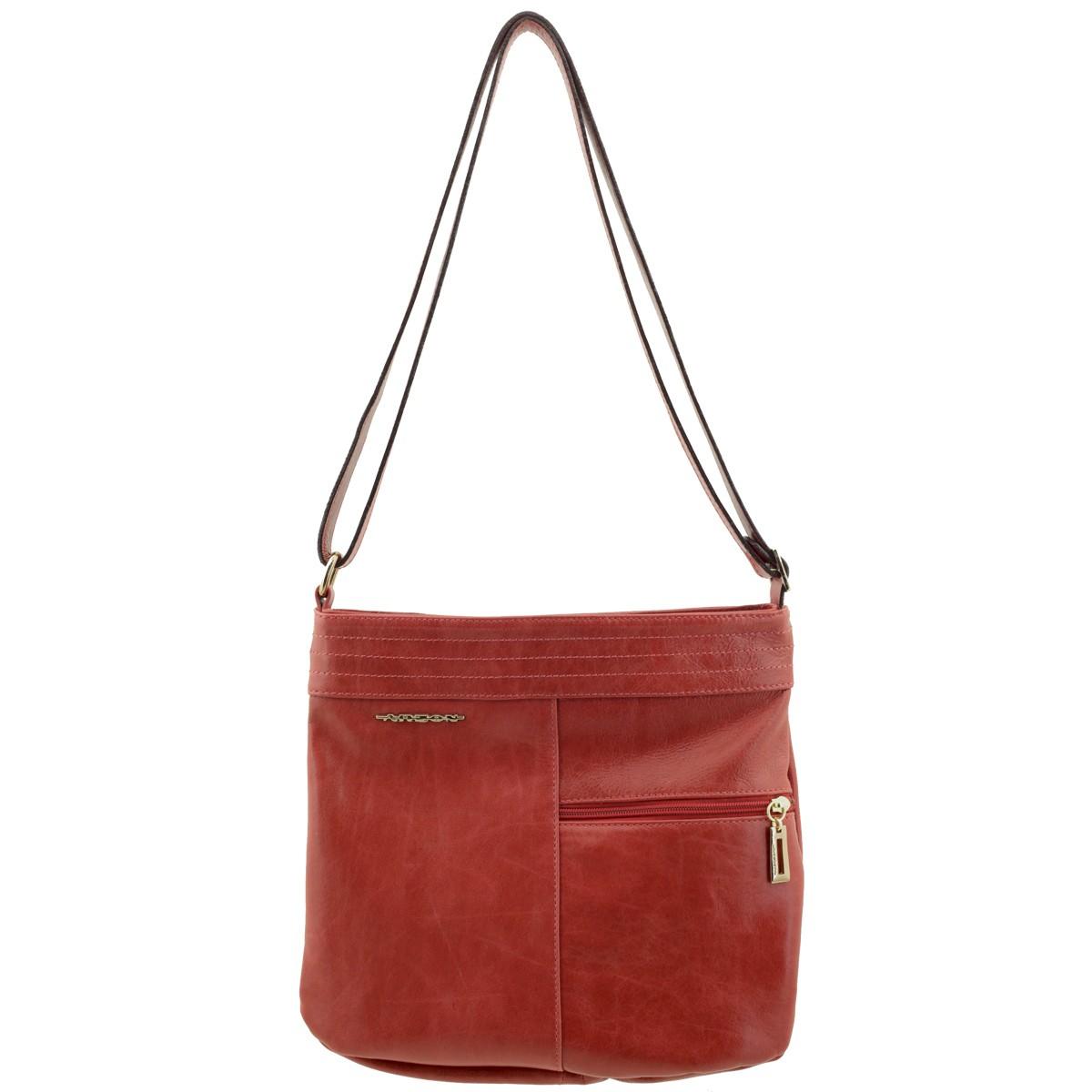 Bolsa De Couro Legitimo Vermelha : Bolsa tiracolo de couro vermelha