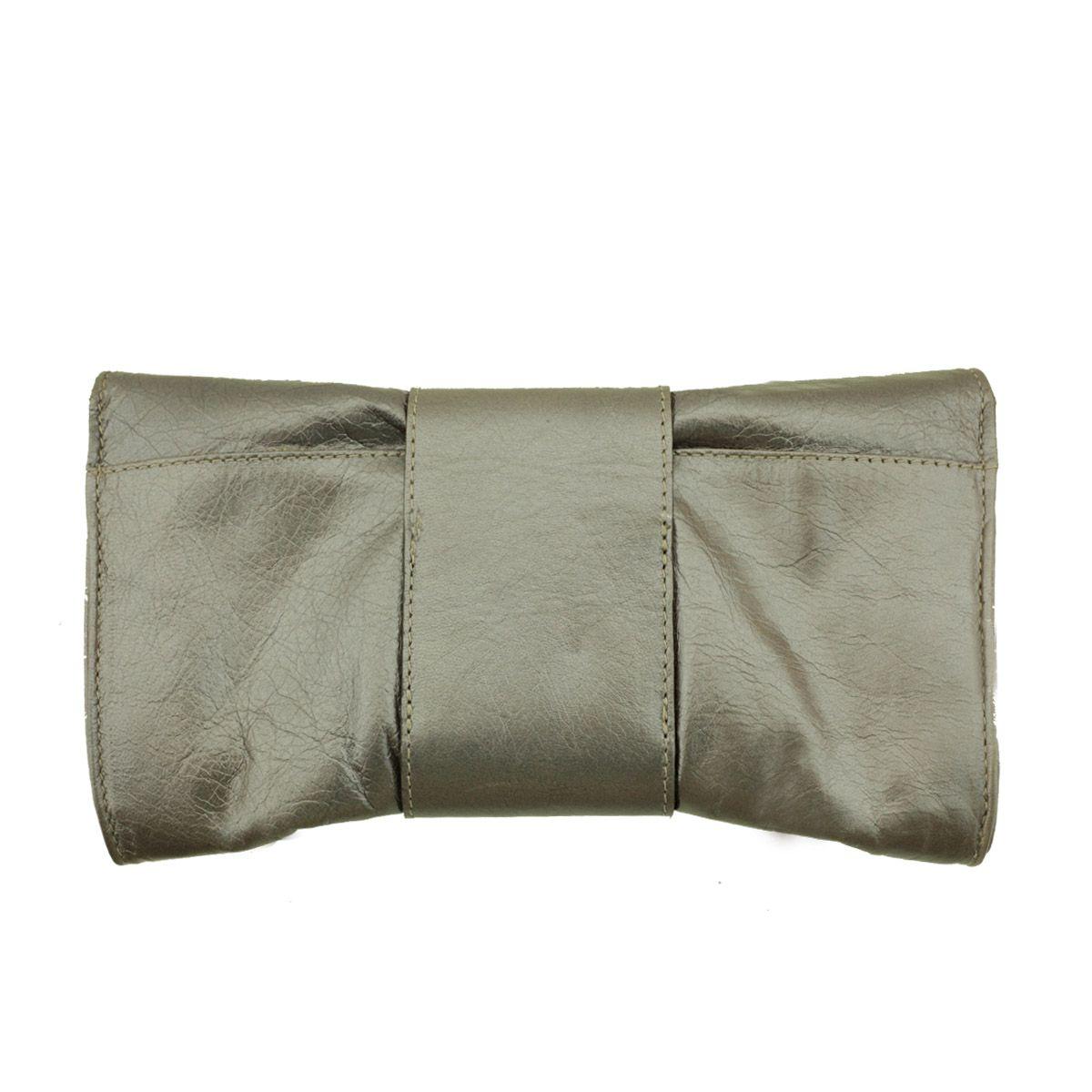 Bolsa De Mão Prata : Carteira de m?o em couro prata velho