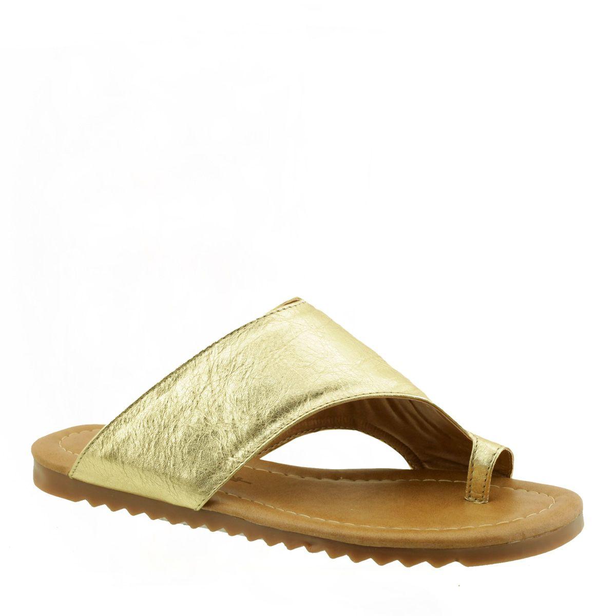 Chinelo Tira Larga Dourado