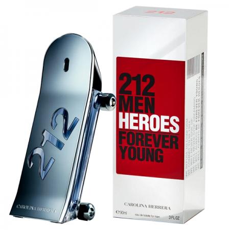 212 Men Heroes Carolina Herrera Eau de Toilette - Perfume Masculino 90ml