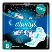 Absorvente Always Seca Noites Tranquilas c/8 Unidades
