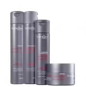 Acquaflora Controle do Volume Shampoo+Cond 300ml+Masc 250ml+Leave-in 240ml
