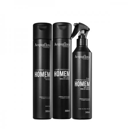 Acquaflora Homem Cabelos Normais Duo+Spray Leave-in 240ml