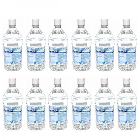 Água Destilada 1L - Asfer C/12