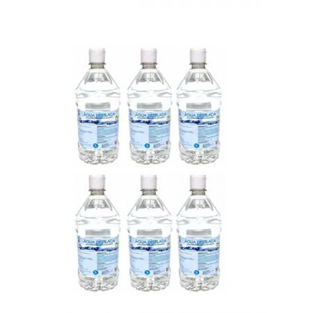 Água Destilada 1L - Asfer C/6