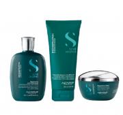 Alfaparf Semi di Lino Reconstruction Reparative Shampoo 250ml+Mask +Leave-in 200ml