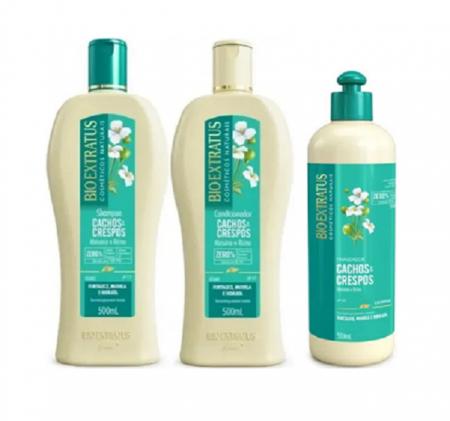Bio Extratus Cachos E Crespos Shampoo+Condicionado+Finalizador 500ml