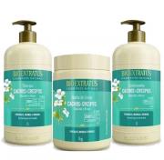 Bio Extratus Cachos e Crespos Shampoo+Condicionador+Banho de Creme 1Kg