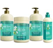 Bio Extratus Cachos e Crespos Shampoo+Condicionador+Banho de Creme 1Kg+Finalizador 500ml
