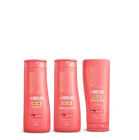 Bio Extratus Mais Brilho - Shampoo+Condicionador 250ml+Finalizador 200g