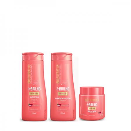 Bio Extratus Mais Brilho - Shampoo+Condicionador 250ml+Mascara 250g