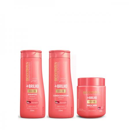 Bio Extratus Mais Brilho - Shampoo+Condicionador 250ml+Mascara 500g