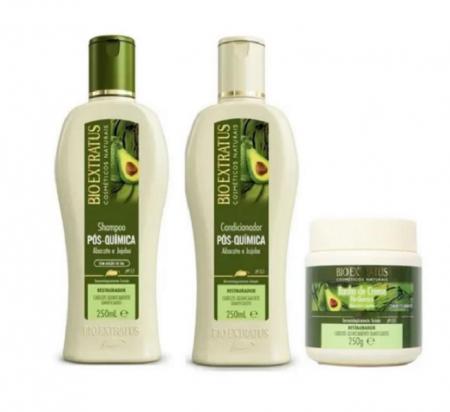 Bio Extratus Pos-Quimica Shampoo+Condicionador+Banho de Creme 250ml