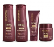 Bio Extratus Shitake Plus (Shampoo+Cond 350g+Mascara 250g+ Finalizador Termoprotetor 200g)