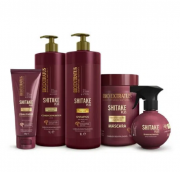 Bio Extratus Shitake Plus (Shampoo+Condi 1L+Mascara 1Kg+Finalizador Noite/Dia 200g+Elixir 300ml)