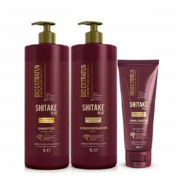Bio Extratus Shitake Plus (Shampoo+Condicionador 1L+Finalizador Noite/Dia 200g)