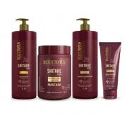Bio Extratus Shitake Plus (Shampoo+Condicionador 1L+Mascara 1Kg+Finalizador Noite/Dia 200g)