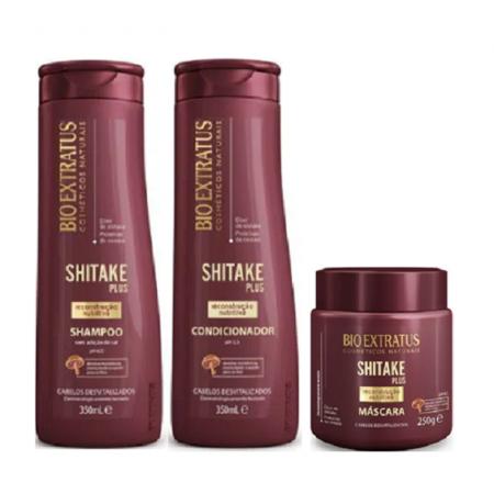 Bio Extratus Shitake Plus (Shampoo+Condicionador 350g+Mascara 250g)