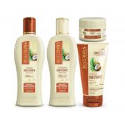 Bio Extratus Umectante Óleo de Coco (Shampoo+Condicionador 250g+ Banho de Creme 90g+ FInalizador 150g)